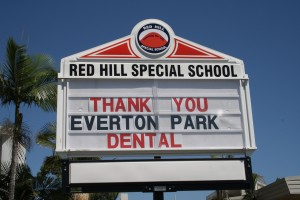 Red hill thank you board
